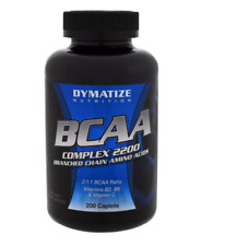 NEW DYMATIZE NUTRITION BCAA COMPLEX 2200 BRANCHED CHAIN AMINO ACIDS SUPPLEMENT
