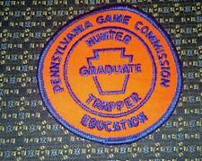 PENNSYLVANIA GAME COMMISSION HUNTER GRADUATE TRAPPER EDUCATION Patch