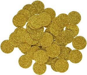 Ling's moment Gold Confetti Circle Dots Decoration for Wedding Party Table