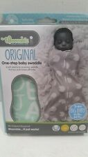 Woombie Original 14-19 lbs 3-6 months Swaddle Mint Green Alphabet Big Baby   NEW