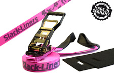 4 pezzi Slackline SET COMPLETO - 50mm-larga 25m lungo rosa-Made in Germany