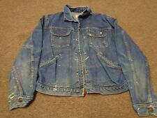 RARE VTG WRANGLER BLUE BELL SANFORIZED JACKET WESTERN 46 MEN SPORT DENIM 40S 50S