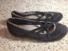 Women's Patagonia Casual Shoes, Slip On Size 10 Black Suede. Ked