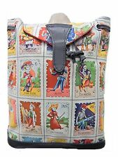 """BACKPACK WITH ADJUSTABLE HANDLES """"LOTERIA CARTAS"""" PATTERN , BIEGE, NEW,"""