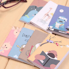 Cute 2x Mini Cartoon Notebook Handy Pocket Notepad Paper Journal Diary Portable