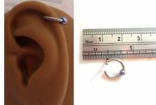 Ear Cuff Fake Helix Cartilage Piercing Jewelry Ear Hoop Single Light Purple Ball