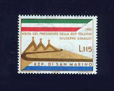SAN MARINO 1965 MNH SC.626 Visit of Saragat,president of Italy
