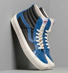 Vans OG Sk8-Hi Reissue Vl Leather Skate Shoes Size 10 True Blue/ Black