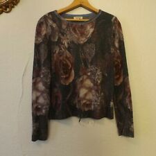 IVKO Womens 40 Pullover anthracite Brocade Floral Sweater 52721 Viscose Blend
