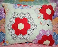 NEW Throw Pillow Made From Vintage 1930's Handmade Quilt FG1214-B