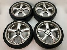 GENUINE KAHN RSC 2 PIECE SPLIT RIM ALLOY WHEELS 8.5x19 5X112 MERCEDES AUDI BBS