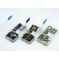 40PCS Metal Buttons Snap Fastener Press Stud Popper Sew On Sewing Fabric Craft