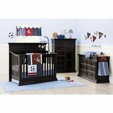 12pc NoJo Play Ball Sports Fan 9 Piece Crib Bedding Set Newborn Baby Boy Gift