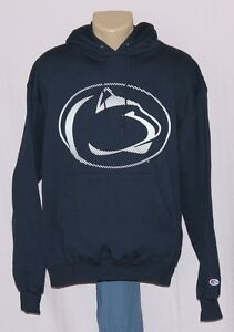 Penn State Nittany Lions Logo Hoodie Pullover Hooded Sweatshirt Navy Champion