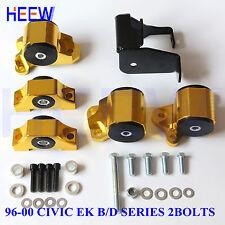 2BOLT MOTOR MOUNT ENGINE TORQUE KIT BRACKET EK FOR HONDA CIVIC 96-00 D16 B16 B18