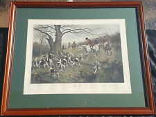 "George Wright ""Up A Tree"" Vintage Print - Signed, Matted, Framed"