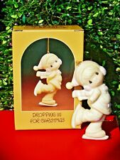 Precious Moments Ornament #E-2369 Dropping In For Christmas 1982 In Box