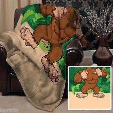 Large Warm Sofa Fleece Throw cartoon Gorilla Design Blanket Great Gift Idea