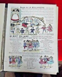 Image d'Epinal Pellerin  n°3123 Ronde de la Boulangère chanson musique 1900