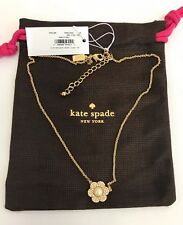 Kate Spade Park Floral Pearl Pendant Necklace Earrings W Dust Bag O0ru1258