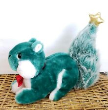 Applause Green Squirrel Plush Douglas Fir Christmas Tree Tail With Star Vintage