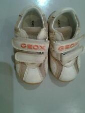GEOX BOYS' B BOOM BOY D MESH AND SMOOTH IN BEIGE 19 UK 3 RRP £27 SALE NOW £17.99