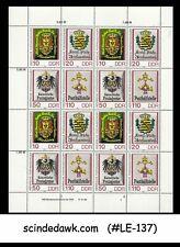 GERMANY - 1990 POSTS & TELECOMMUNICATION WORKER'S DAY SHEETLET MNH