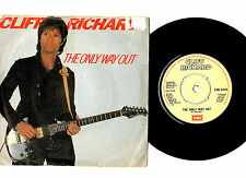 """CLIFF RICHARD.THE ONLY WAY OUT / UNDER THE INFLUENCE.UK ORIG 7"""" & PIC/SL.EX"""