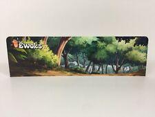 Custom Vintage Star Wars Ewoks animado Display Stand de telón de fondo para Original Gris