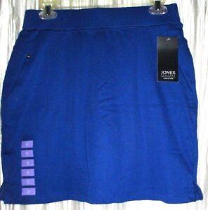 New  *JONES NEW YORK*  Sport, Cotton Sapphire Blue Tennis/Golf Skort, Small