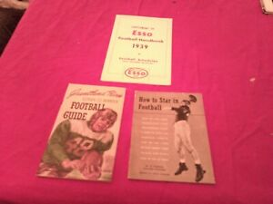 LOT OF 3 1930S & 1940S FOOTBALL PAMPHLETS