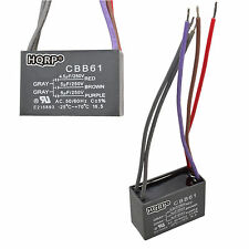 2-Pack Replacement Motor Ceiling Fan Capacitor CBB61 4.5uf+5uf+5uf 5-Wire
