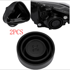2PC Universal Seal Cap Dust Cover for Car Headlight LED HID 55-95mm Kit Retrofit