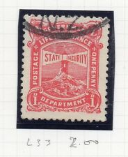 New Zealand 1926-31 Life Insurance Early Issue Fine Used 1d. 163268