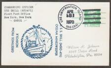 USS Skill MSO 471 April 3 1970 (N37300) USS Observation Island AG 154 Postmark