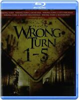 Wrong Turn Movie Collection 1 2 3 4 5 Series Blu Ray HD Box Set Horror