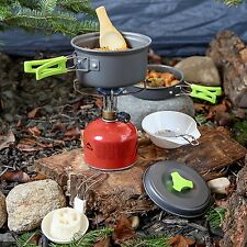 Camping Cookware Set Mess Backpacking Gear Hiking Outdoors Meal Compact Survival