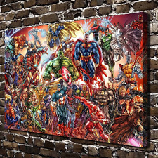 Superhelden Wandbild Superman Hulk Batman Flash Spiderman Captain America ++ Neu