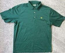 Masters Amen Corner Green Golf Polo Shirt Mercerized Cotton Size Large