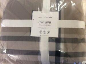 Pottery Barn Teen Xander Plaid Twin / Xl Twin Comforter Taupe NWT!