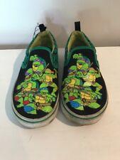 TEENAGE MUTANT NINJA TURTLES Canvas Boat Deck Sneakers Boys Girls Shoes Sz 13 #