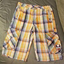 COOGI Australia Mens Plaid Casual Shorts Size 20 Cotton Golf Casual Multicolor