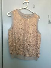 Zara Woman gold and silver top in size L