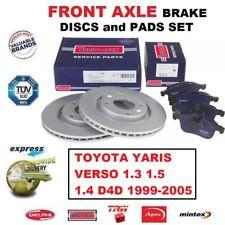 UAT Disques De Frein est aérée ø255 garnitures avant Toyota Yaris p1 Bj 99-05