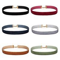 Choker Necklace Set Women's Black Velvet Ribbon Collar Adjustable 6-Pieces