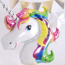 2pc Balloon Unicorn Large Rainbow Foil Helium Children Toys Birthday Party Decor