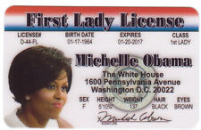 Michalle Obama First Lady for the President of the States Drivers License