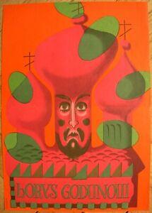 Original Polish Poster Borys Godunow by Jozef Mroszczak Russian opera Godunov