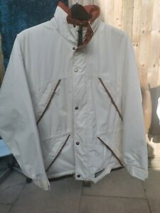 Harry Hall Jacket Size Medium In Cream and Brown Trim