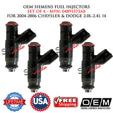 4PCS OEM Siemens Fuel Injectors for 2004-2006 CHRYSLER & DODGE 2.0L-2.4L I4